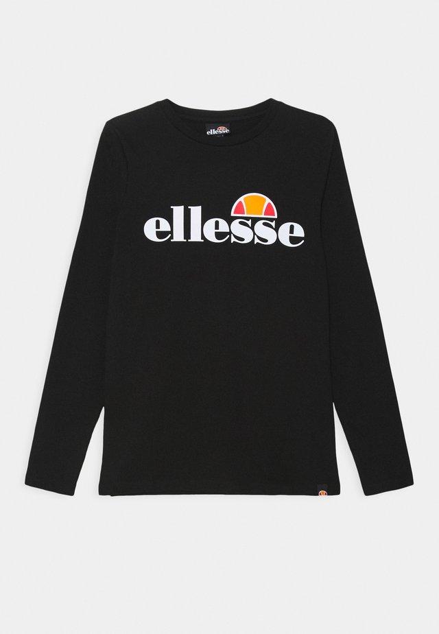 YANDIA UNISEX - T-shirt à manches longues - black