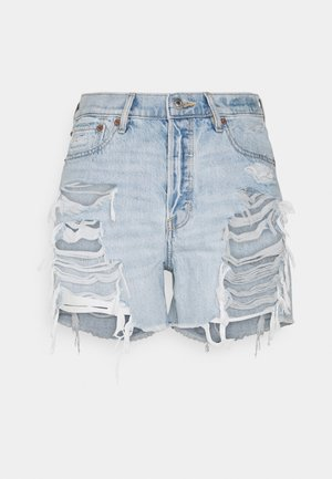 Denim shorts - light destroy wash