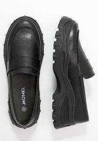 Monki - CARLA LOAFER - Slip-ons - black - 3