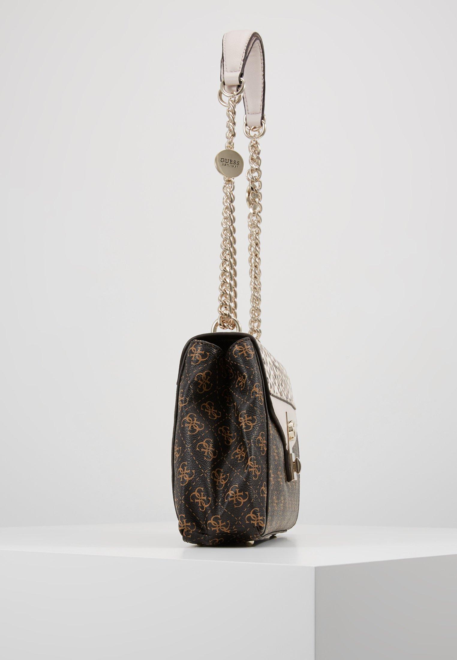 Guess LORENNA SHOULDER BAG - Håndveske - brown/brun iazQXWLoKsVnj4d