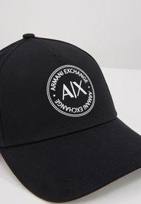 Armani Exchange - BASEBALL HAT - Kšiltovka - black - 4