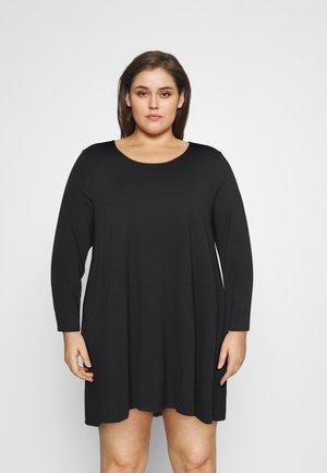 SWING DRESS - Žerzejové šaty - black