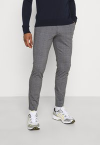 Only & Sons - ONSMARK TAP PANT CHECK - Tygbyxor - black - 0