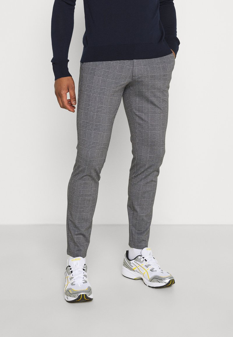 Only & Sons - ONSMARK TAP PANT CHECK - Tygbyxor - black
