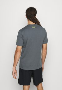 Under Armour - ROCK BRAHMA BULL - T-shirt con stampa - pitch gray - 2