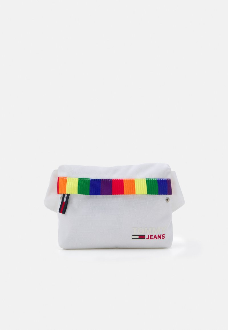 Tommy Jeans - CAMPUS BUMBAG PRIDE UNISEX - Bum bag - white