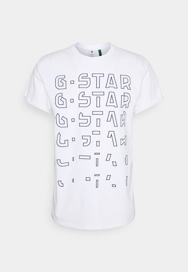 EMBRO GRADIENT GRAPHIC LASH - Print T-shirt - white