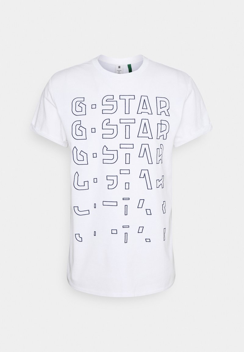 G-Star - EMBRO GRADIENT GRAPHIC LASH - T-Shirt print - white