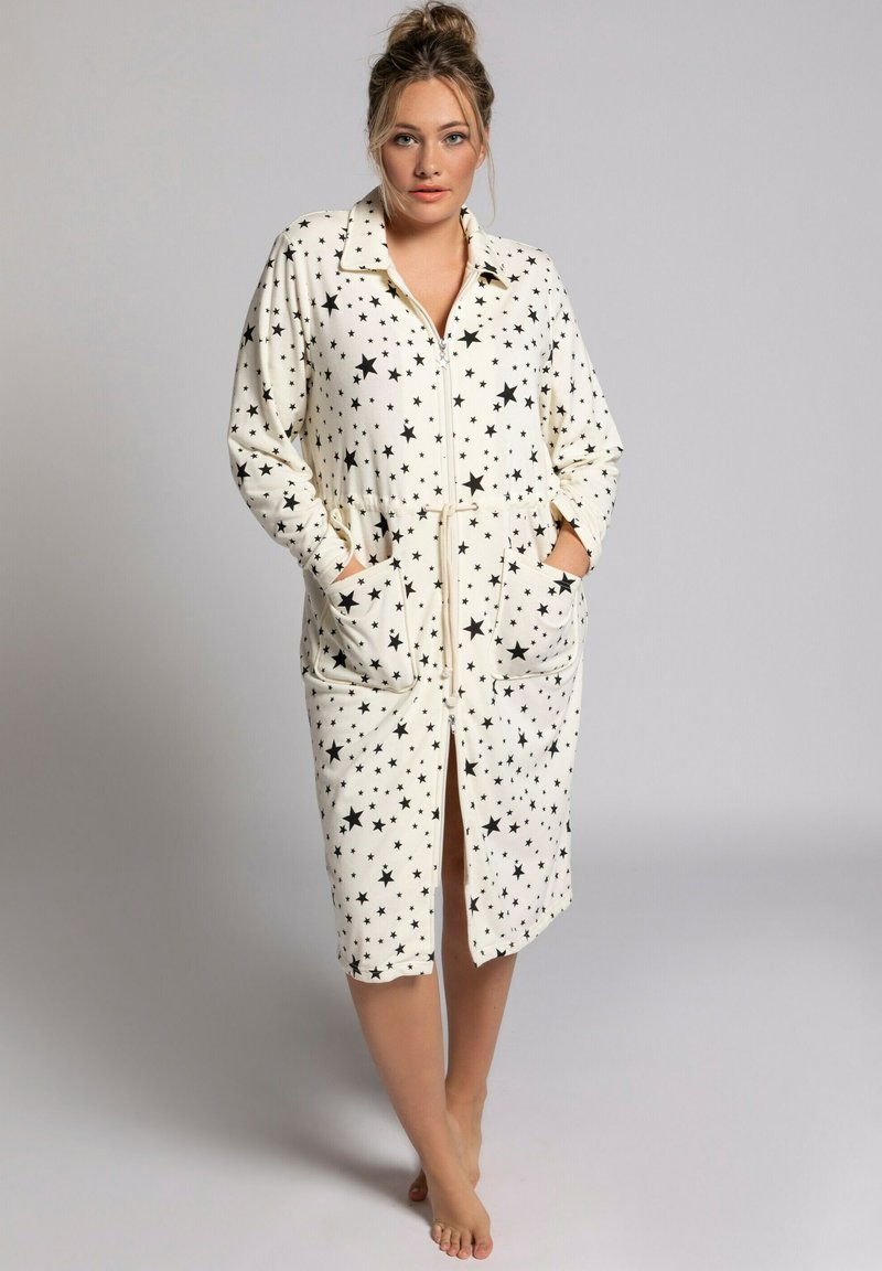 Ulla Popken - Dressing gown - cream white multi