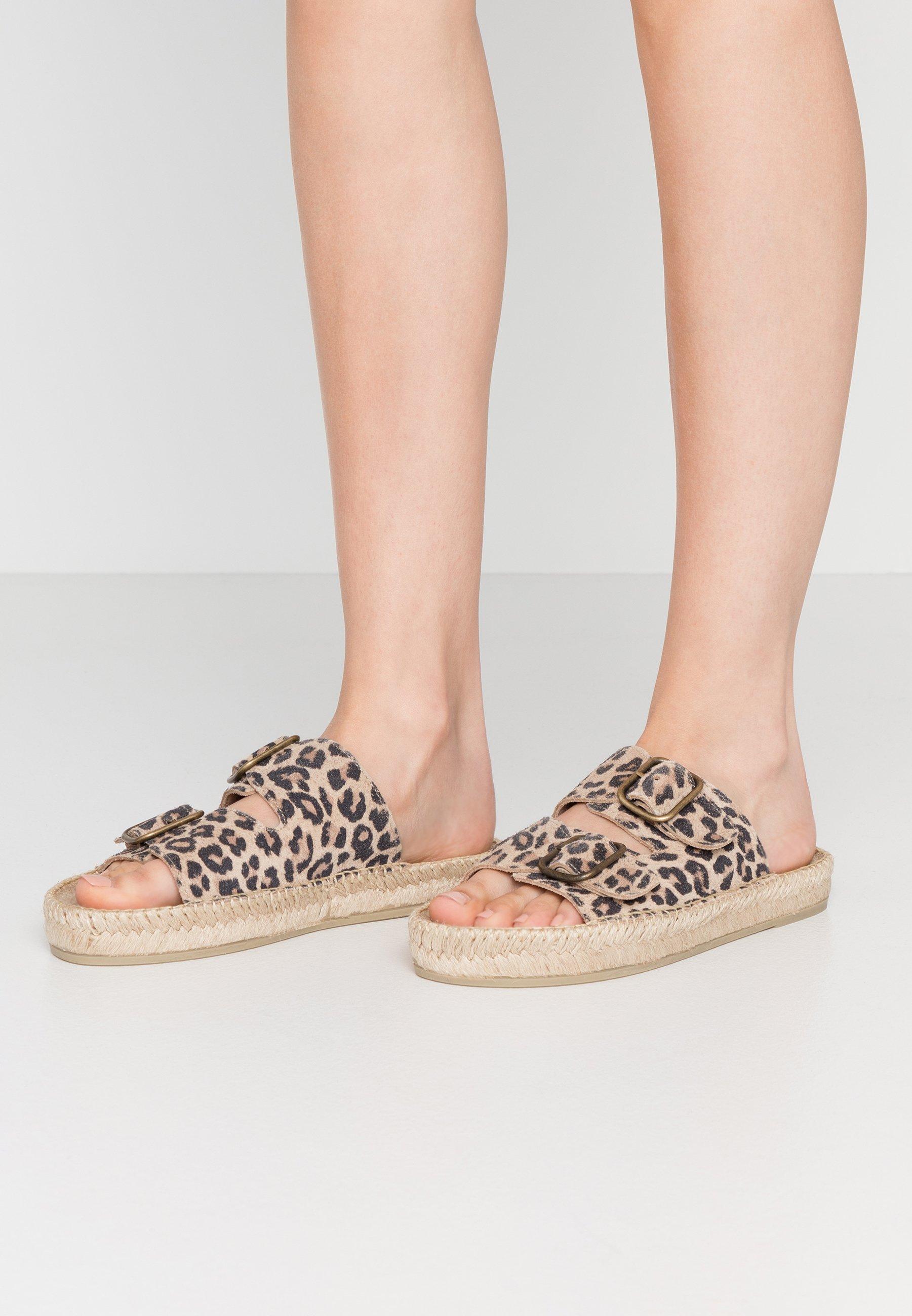 Damen CLAQUETTE PRINT - Pantolette flach - brown