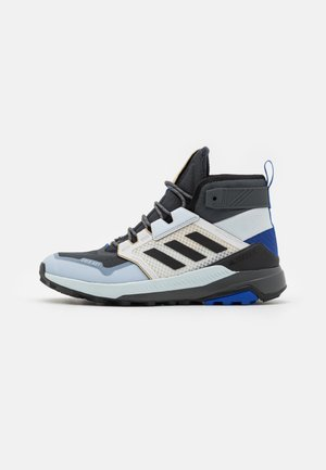 adidas TERREX TRAILMAKER MID COLDRDY  - Hiking shoes - grey six/core black/halo blue