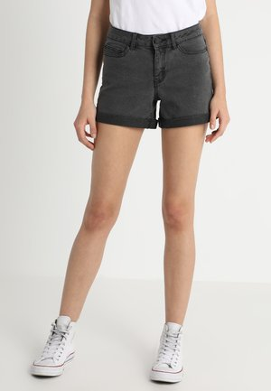 NMBE LUCY FOLD - Jeans Shorts - dark grey denim