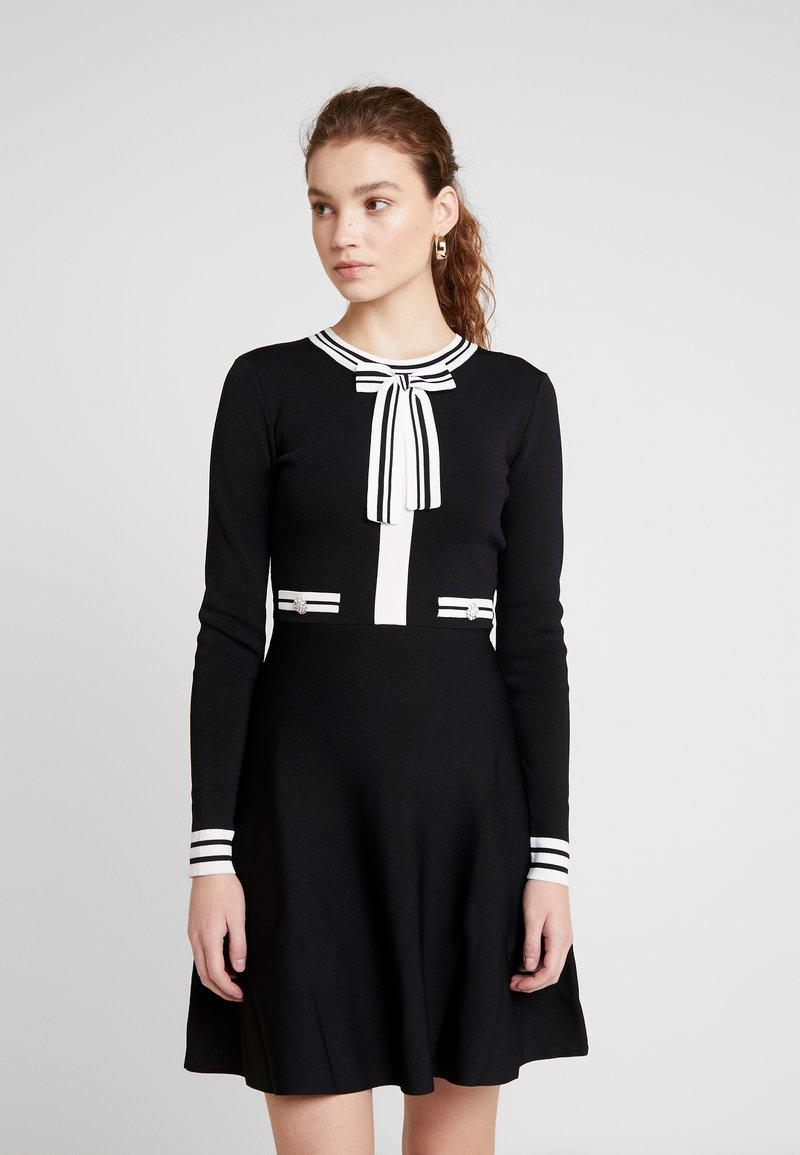 Morgan - Abito in maglia - noir/off white