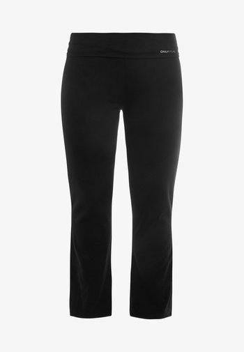 ONPFOLD JAZZ PANTS CURVY - Tracksuit bottoms - black