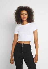 Even&Odd - 3 PACK - Basic T-shirt - black/white/khaki - 4