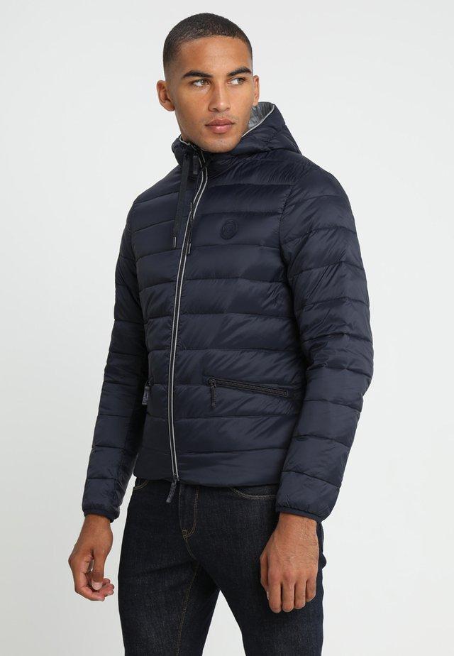 Gewatteerde jas - navy/melange grey
