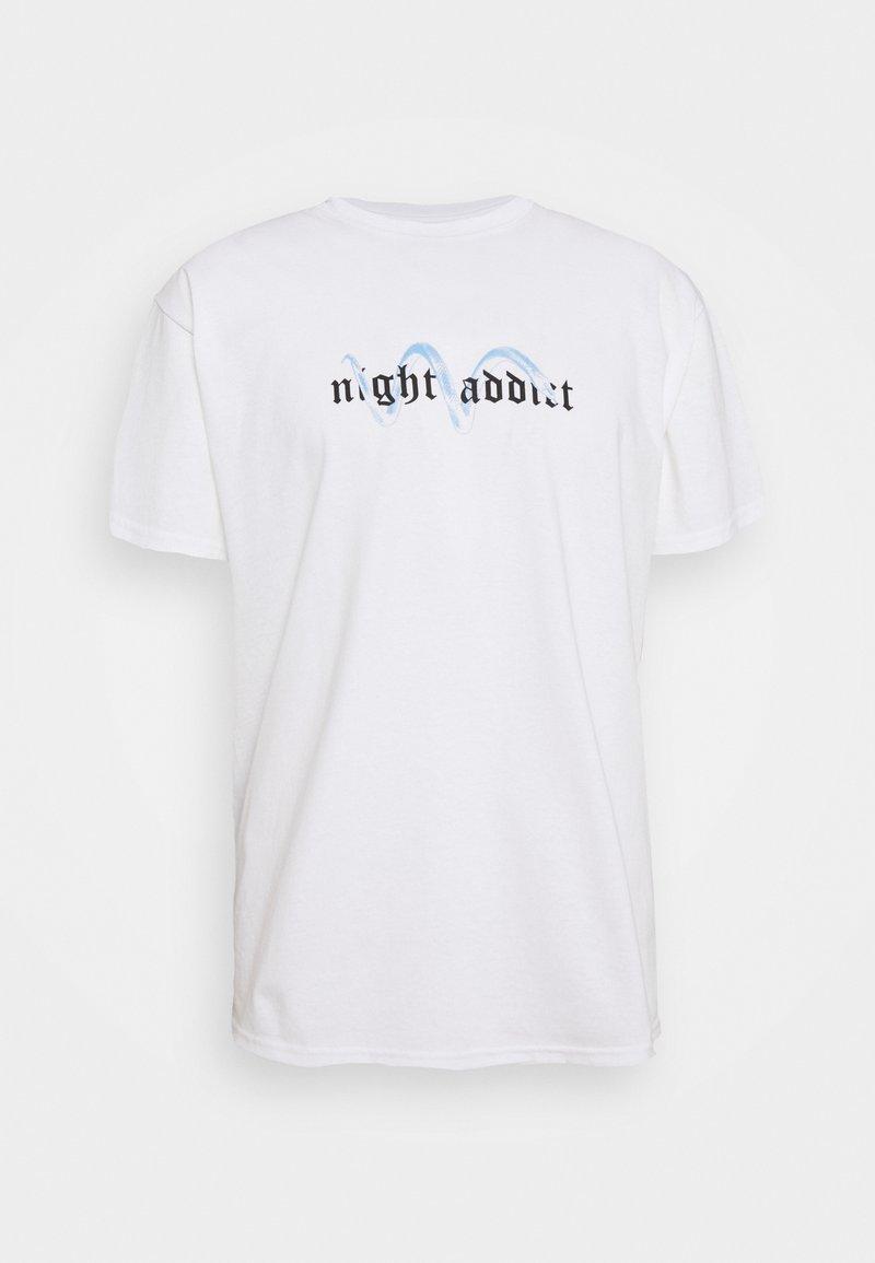 Night Addict - T-shirt med print - white