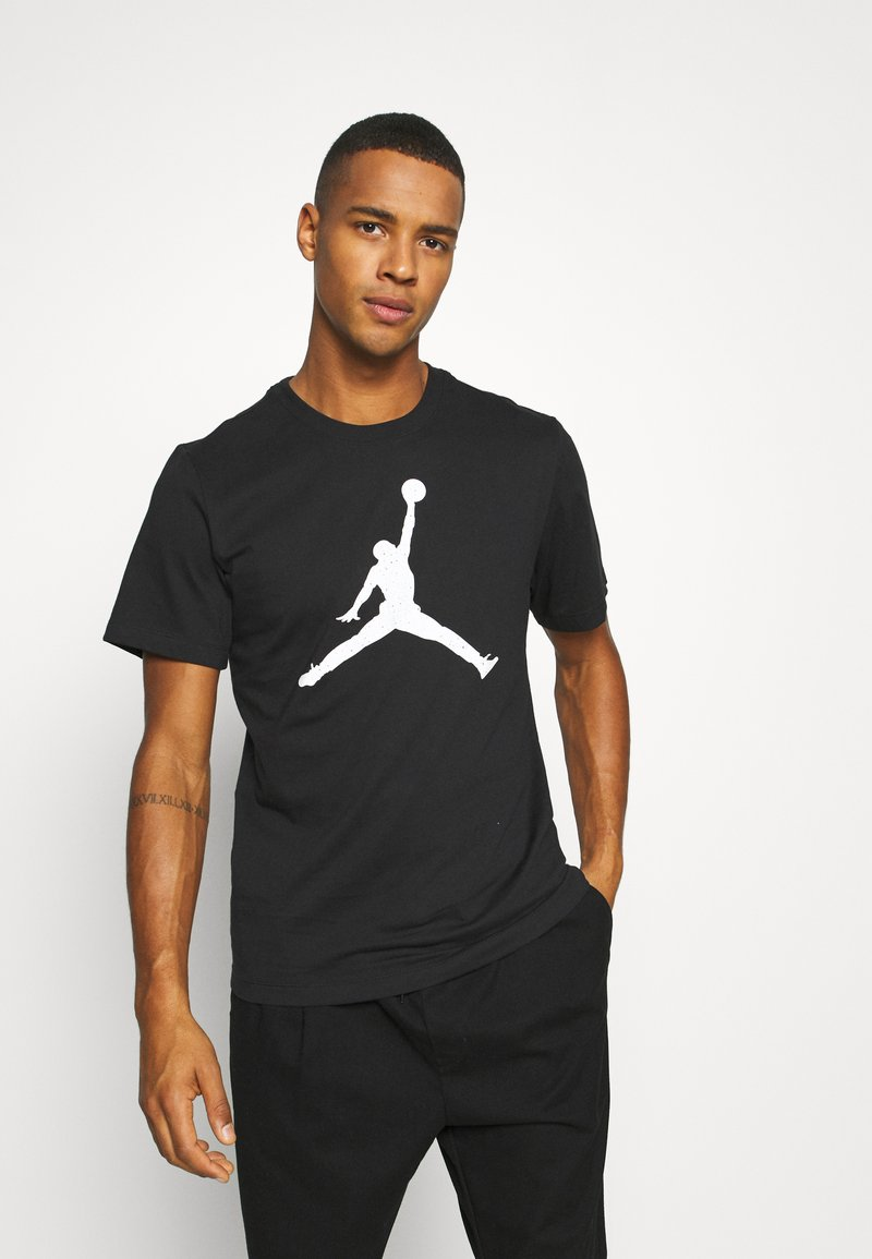 Jordan - JUMPMAN FILL CREW - T-shirt con stampa - black/white