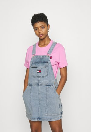 CARGO DUNGAREE DRESS - Sukienka jeansowa - light-blue denim