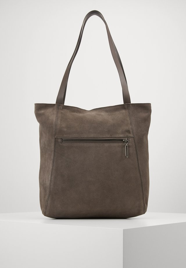 LEATHER - Tote bag - anthracite