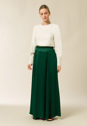 Pleated skirt - eden green