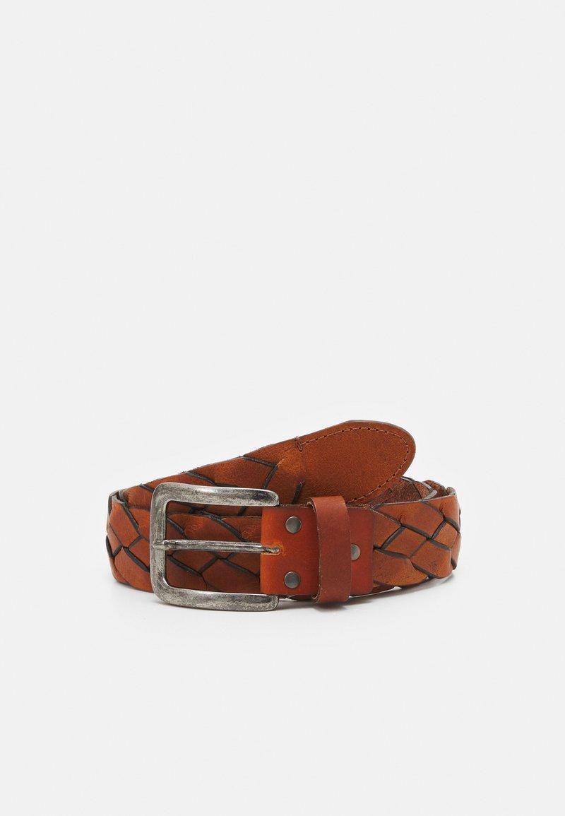 Vanzetti - Braided belt - cognac