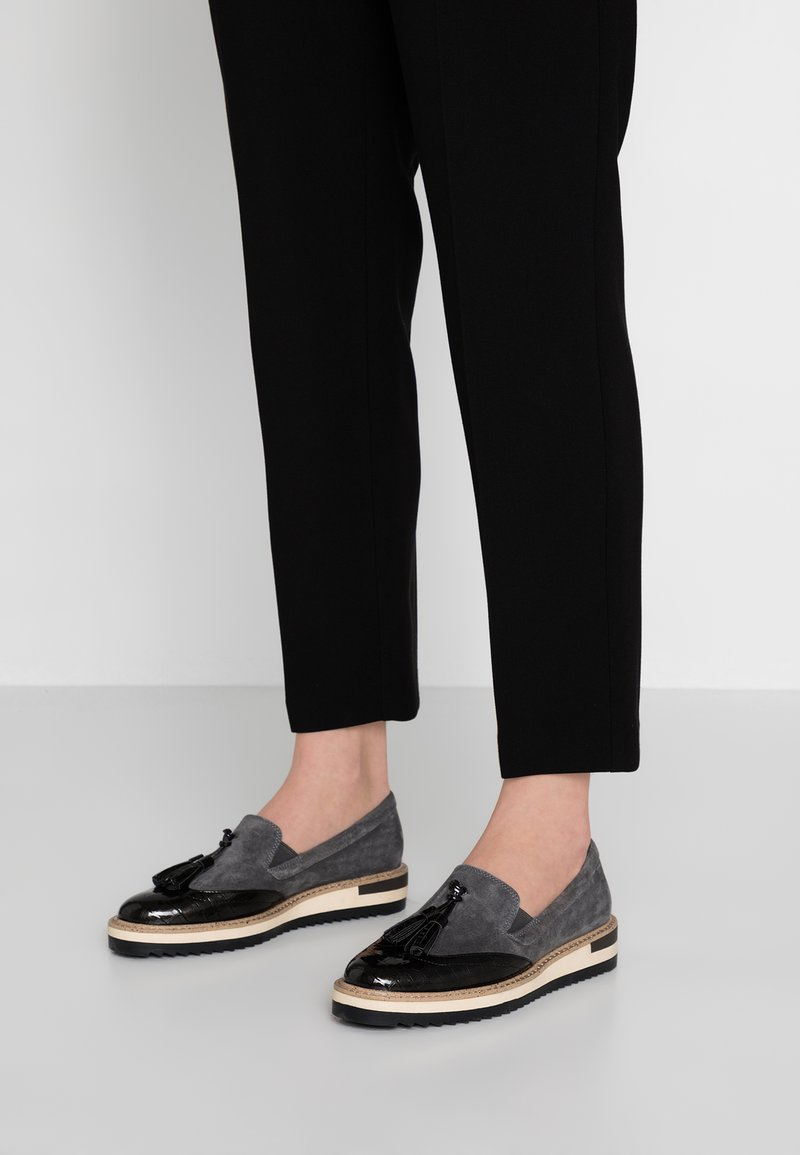 Anna Field Select - LEATHER SLIP-ONS - Slip-ons - grey