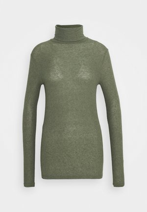 ANGELA ROCK NECK - Jumper - deep olive