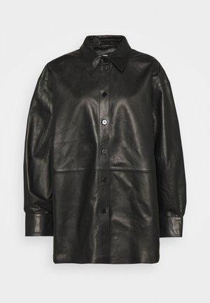 GINA - Button-down blouse - black