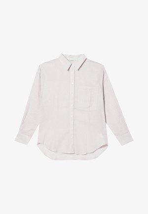 MIT STREIFEN - Button-down blouse - stone