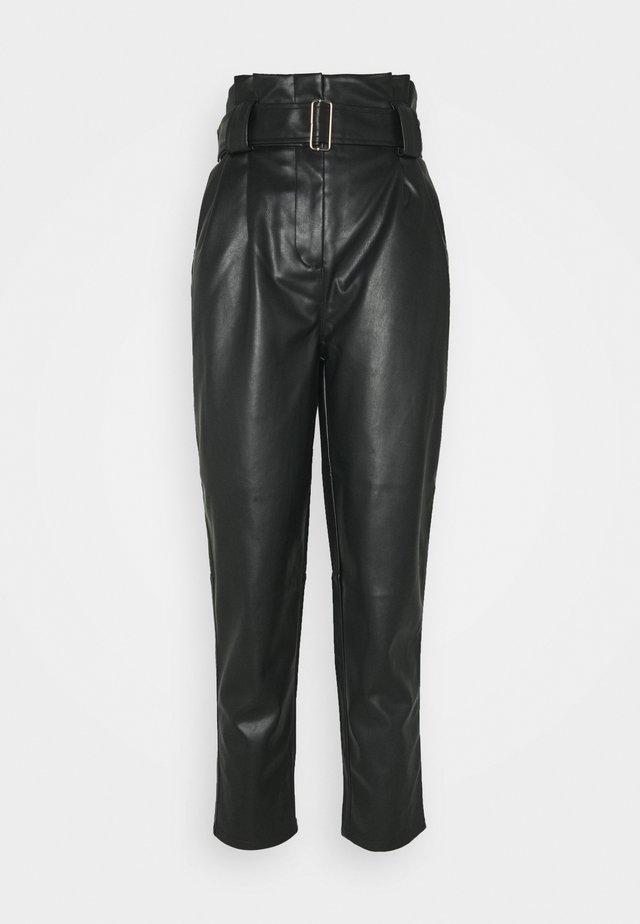MARGIT TROUSERS - Spodnie materiałowe - schwarz