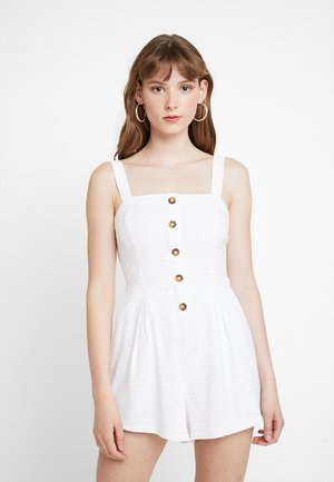 BUTTON FRONT ROMPER - Jumpsuit - white eyelet