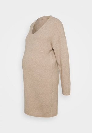 PCMSTAR NECK  - Jumper dress - natural melange