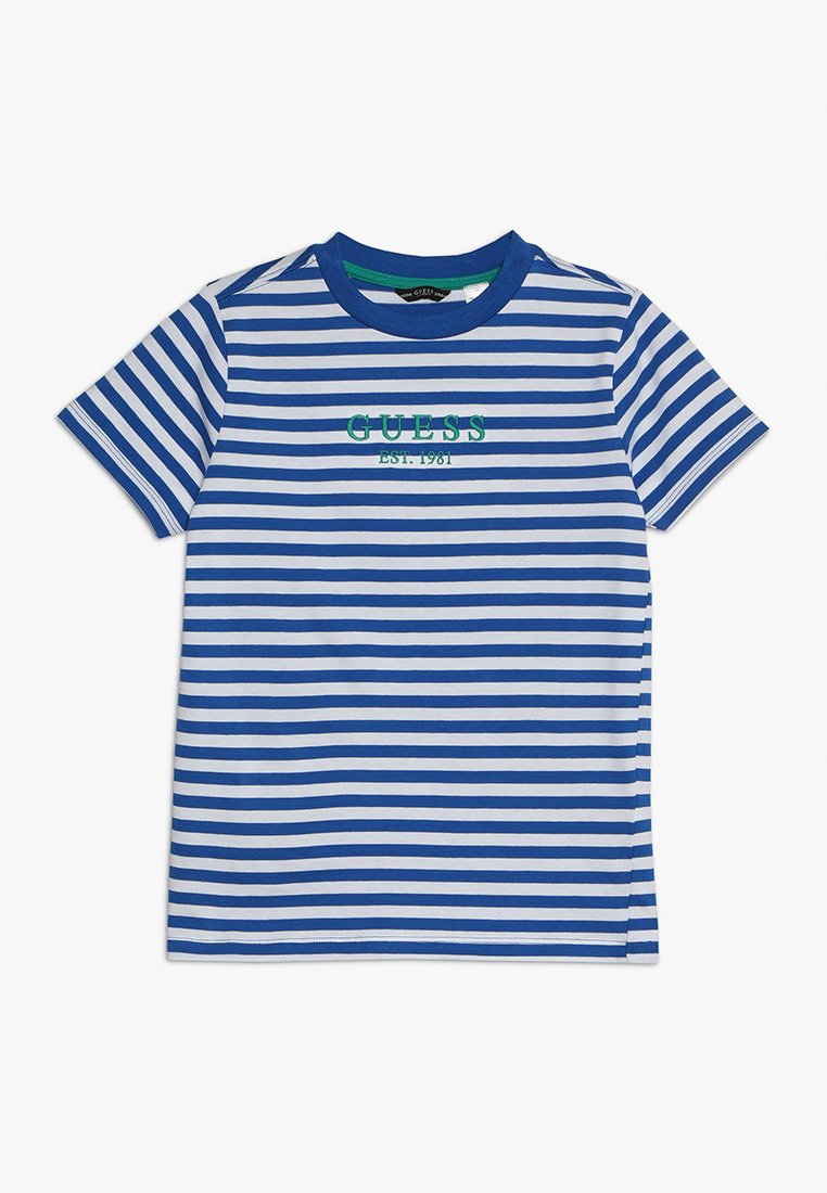 Guess - JUNIOR  - T-shirt z nadrukiem - blue/white