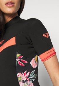 Roxy - Swimsuit - black/bright coral - 5