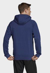 adidas Performance - CORE 19 HOODIE - veste en sweat zippée - blue - 1