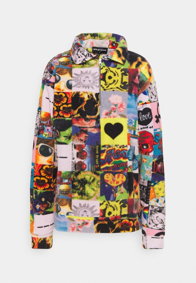 COLLAGE ZIP UP - Fleece jumper - multi