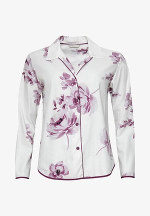 Pyjama top - burgundy floral