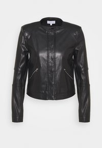 Patrizia Pepe - BUTTON JACKET - Faux leather jacket - nero - 0