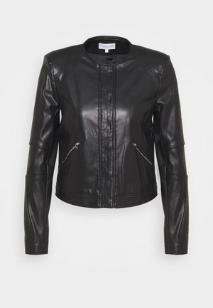 BUTTON JACKET - Veste en similicuir - nero