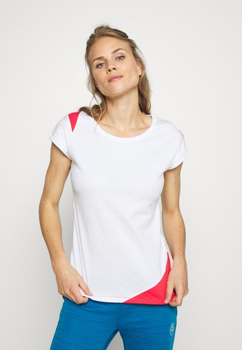CHIMNEY  - T-shirts med print - white/hibiscus