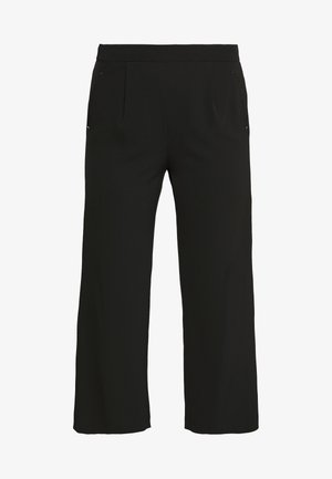 SMART WIDE LEG TROUSER - Spodnie materiałowe - black