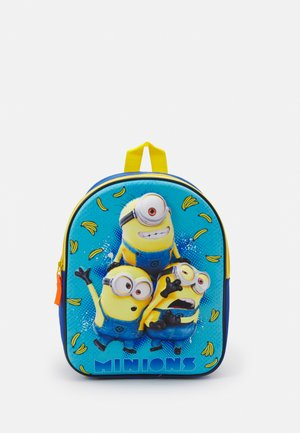 BACKPACK AND PENCIL CASE MINIONS EXPRESS YOURSELF 3D SET UNISEX - Koulusetti - blue