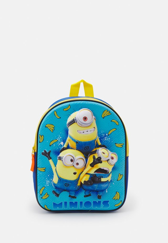 BACKPACK AND PENCIL CASE MINIONS EXPRESS YOURSELF 3D SET UNISEX - Set zainetto - blue