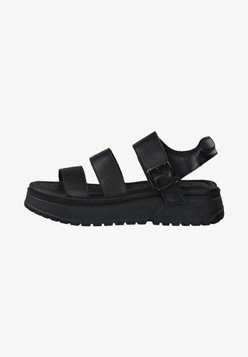 Platform sandals - black uni