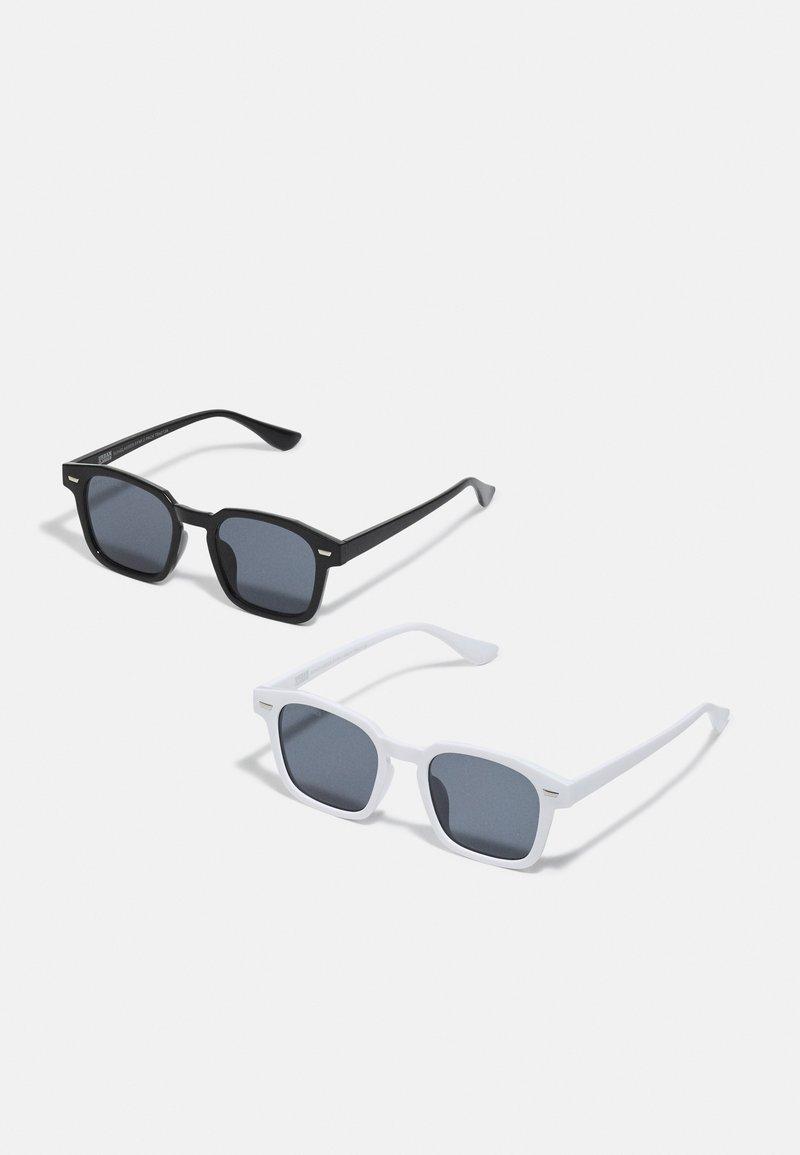 Urban Classics - UNISEX 2 PACK - Sunglasses - black/white