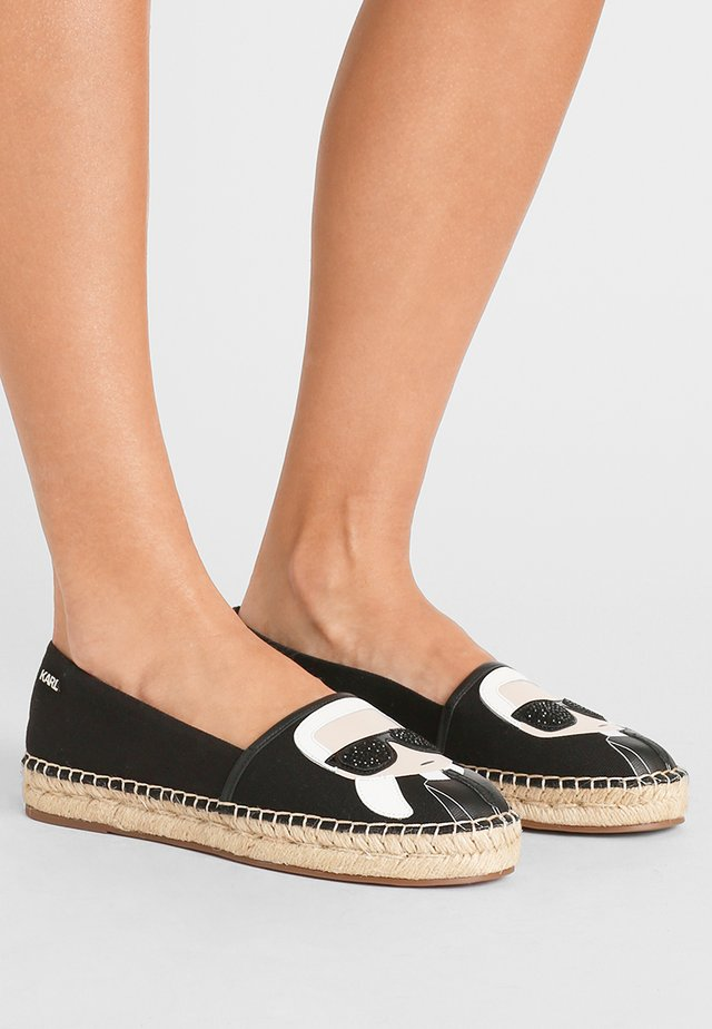 KAMINI IKONIC SLIP ON - Espadrilles - black
