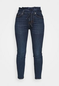 7 for all mankind - PAPERBAG PANT SOHO DARK - Slim fit jeans - dark blue - 4