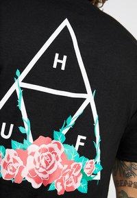 HUF - CITY ROSE TEE - Print T-shirt - black - 5