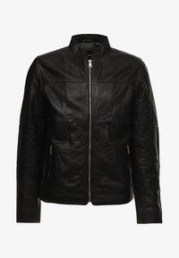 TRENTO - Leather jacket - black